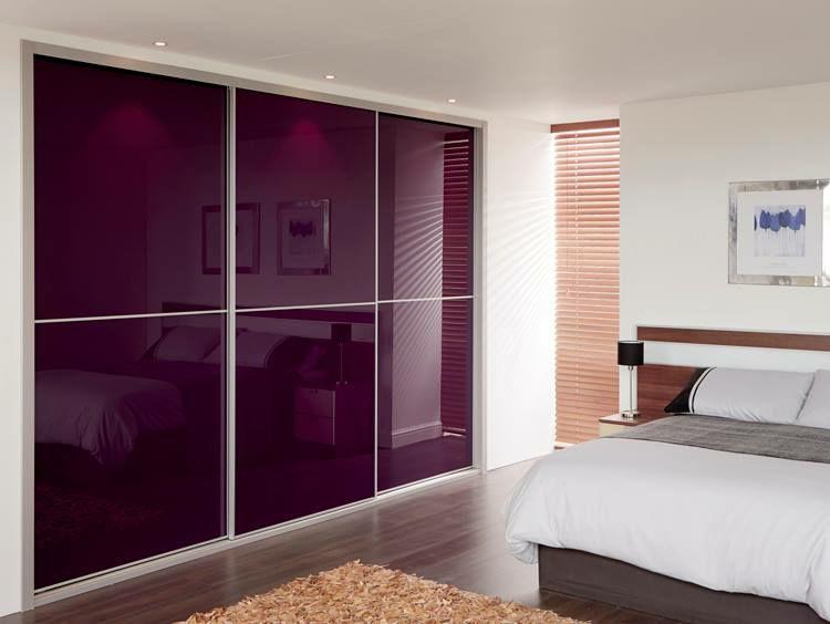 اتاق خواب شیشه رنگی کمد