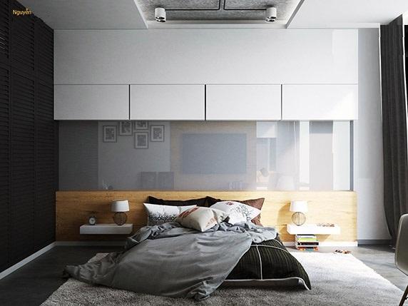 اتاق خواب شیشه دیوارپوش