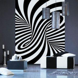 شیشه چاپی سفید و سیاه
