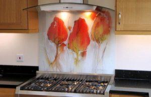 شیشه چاپی آشپزخانه